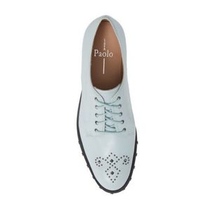 Linea Paolo Matteo Studded Derby Pale Blue NEW 7